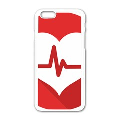 Cardiologist Hypertension Rheumatology Specialists Heart Rate Red Love Apple iPhone 6/6S White Enamel Case