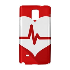 Cardiologist Hypertension Rheumatology Specialists Heart Rate Red Love Samsung Galaxy Note 4 Hardshell Case