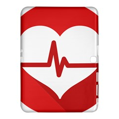 Cardiologist Hypertension Rheumatology Specialists Heart Rate Red Love Samsung Galaxy Tab 4 (10.1 ) Hardshell Case