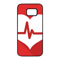 Cardiologist Hypertension Rheumatology Specialists Heart Rate Red Love Samsung Galaxy S7 Edge Black Seamless Case