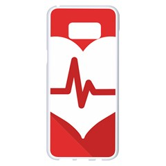 Cardiologist Hypertension Rheumatology Specialists Heart Rate Red Love Samsung Galaxy S8 Plus White Seamless Case