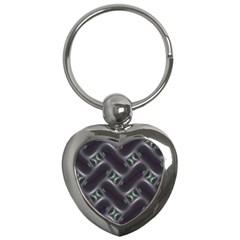 Closeup Purple Line Key Chains (Heart)