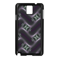 Closeup Purple Line Samsung Galaxy Note 3 N9005 Case (Black)