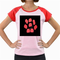 Craft Pink Black Polka Spot Women s Cap Sleeve T-Shirt