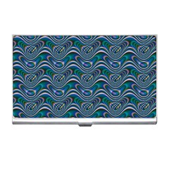 Boomarang Pattern Wave Waves Chevron Green Line Business Card Holders