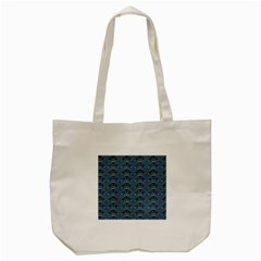 Boomarang Pattern Wave Waves Chevron Green Line Tote Bag (Cream)