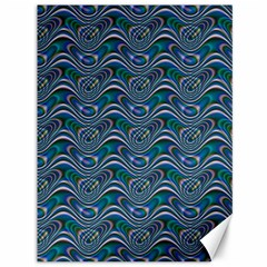 Boomarang Pattern Wave Waves Chevron Green Line Canvas 36  X 48