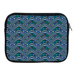 Boomarang Pattern Wave Waves Chevron Green Line Apple iPad 2/3/4 Zipper Cases