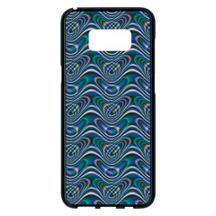 Boomarang Pattern Wave Waves Chevron Green Line Samsung Galaxy S8 Plus Black Seamless Case