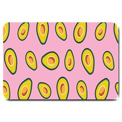 Fruit Avocado Green Pink Yellow Large Doormat