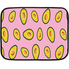 Fruit Avocado Green Pink Yellow Fleece Blanket (mini)