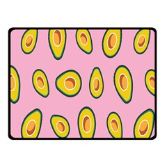 Fruit Avocado Green Pink Yellow Fleece Blanket (small)