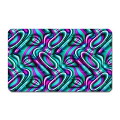 Circle Purple Green Wave Chevron Waves Magnet (Rectangular)