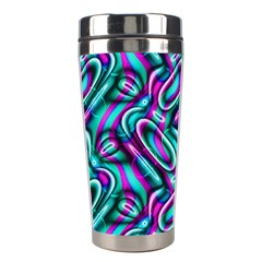 Circle Purple Green Wave Chevron Waves Stainless Steel Travel Tumblers
