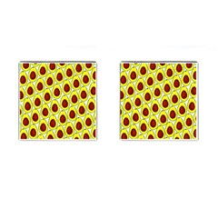 Avocados Seeds Yellow Brown Greeen Cufflinks (Square)
