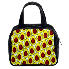 Avocados Seeds Yellow Brown Greeen Classic Handbags (2 Sides)