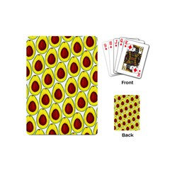 Avocados Seeds Yellow Brown Greeen Playing Cards (Mini)