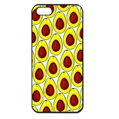 Avocados Seeds Yellow Brown Greeen Apple iPhone 5 Seamless Case (Black)
