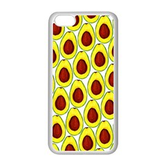 Avocados Seeds Yellow Brown Greeen Apple iPhone 5C Seamless Case (White)