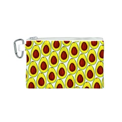 Avocados Seeds Yellow Brown Greeen Canvas Cosmetic Bag (S)
