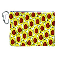 Avocados Seeds Yellow Brown Greeen Canvas Cosmetic Bag (XXL)