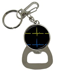 Heart Monitor Screens Pulse Trace Motion Black Blue Yellow Waves Button Necklaces