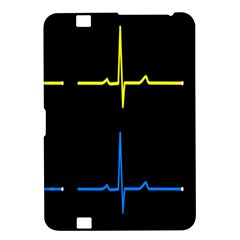 Heart Monitor Screens Pulse Trace Motion Black Blue Yellow Waves Kindle Fire HD 8.9