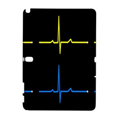 Heart Monitor Screens Pulse Trace Motion Black Blue Yellow Waves Galaxy Note 1