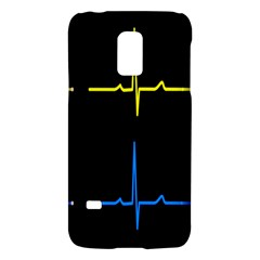 Heart Monitor Screens Pulse Trace Motion Black Blue Yellow Waves Galaxy S5 Mini