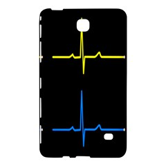 Heart Monitor Screens Pulse Trace Motion Black Blue Yellow Waves Samsung Galaxy Tab 4 (8 ) Hardshell Case