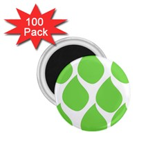 Green Water Rain 1.75  Magnets (100 pack)
