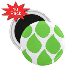 Green Water Rain 2.25  Magnets (10 pack)