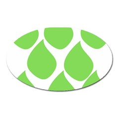 Green Water Rain Oval Magnet