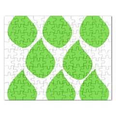Green Water Rain Rectangular Jigsaw Puzzl