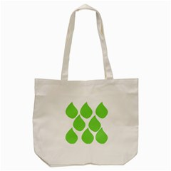Green Water Rain Tote Bag (Cream)