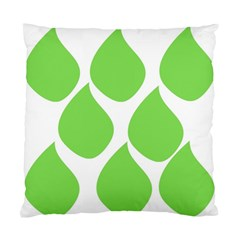 Green Water Rain Standard Cushion Case (One Side)