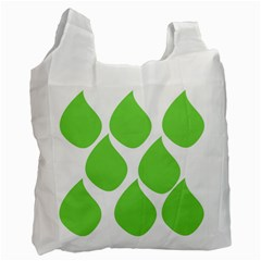 Green Water Rain Recycle Bag (One Side)