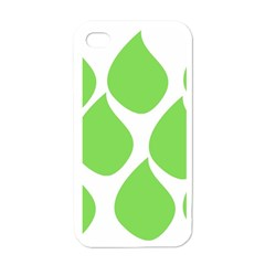 Green Water Rain Apple iPhone 4 Case (White)