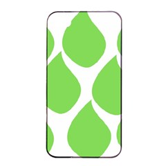 Green Water Rain Apple iPhone 4/4s Seamless Case (Black)