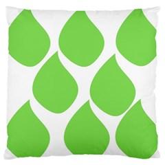 Green Water Rain Large Cushion Case (Two Sides)