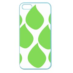 Green Water Rain Apple Seamless iPhone 5 Case (Color)
