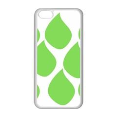 Green Water Rain Apple iPhone 5C Seamless Case (White)