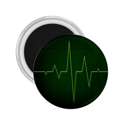 Heart Rate Green Line Light Healty 2.25  Magnets
