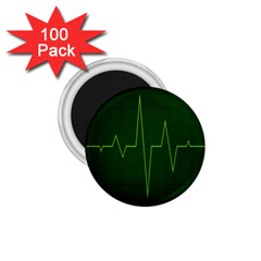 Heart Rate Green Line Light Healty 1.75  Magnets (100 pack)