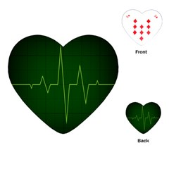 Heart Rate Green Line Light Healty Playing Cards (Heart)