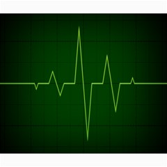 Heart Rate Green Line Light Healty Canvas 20  x 24