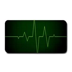 Heart Rate Green Line Light Healty Medium Bar Mats
