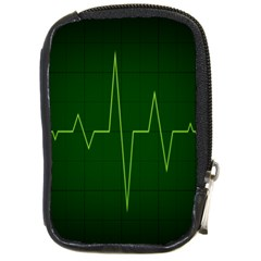 Heart Rate Green Line Light Healty Compact Camera Cases