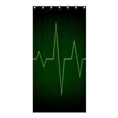 Heart Rate Green Line Light Healty Shower Curtain 36  x 72  (Stall)