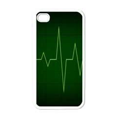 Heart Rate Green Line Light Healty Apple Iphone 4 Case (white)